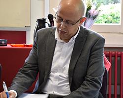 Abdelatif Belbouche, responsable du service admission et financement